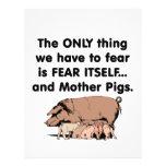 Cerdos 2 del miedo sí mismo tarjetas publicitarias