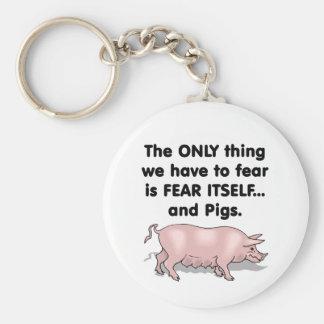 Cerdos 3 del miedo sí mismo llavero redondo tipo pin