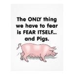 Cerdos 3 del miedo sí mismo tarjetones