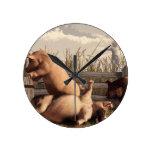 Cerdos borrachos reloj