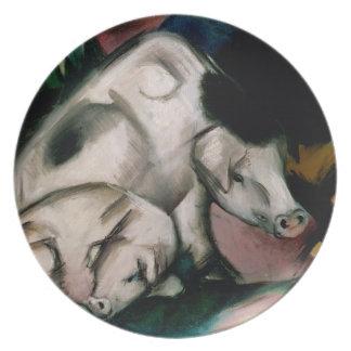 Cerdos, c.1912 (aceite en lona) plato
