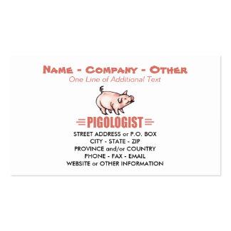 Cerdos chistosos tarjetas de visita