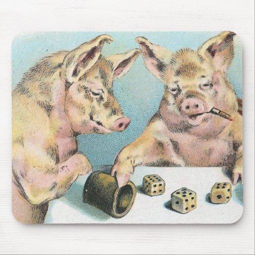 Cerdos de juego tapetes de ratones