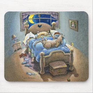 Cerdos de la cama mousepad