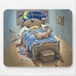 Cerdos de la cama tapete de ratón
