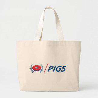 Cerdos de Nueva Zelanda con el buñuelo Bolsa Tela Grande