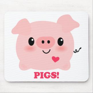 Cerdos del amor de Kawaii I Tapete De Raton