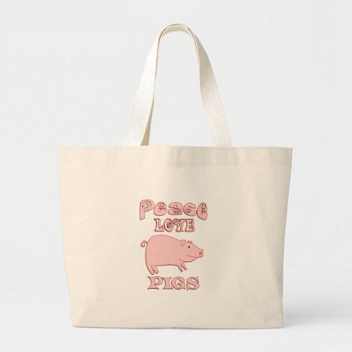 Cerdos del amor de la paz bolsas