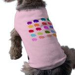 Cerdos del arco iris camisetas de perro