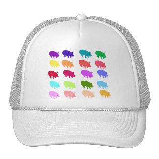 Cerdos del arco iris gorro
