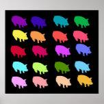 Cerdos del arco iris impresiones