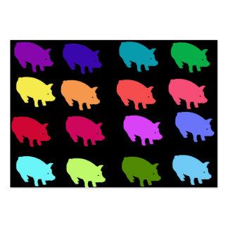 Cerdos del arco iris plantilla de tarjeta de negocio