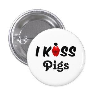 Cerdos del beso del botón I Pin Redondo De 1 Pulgada