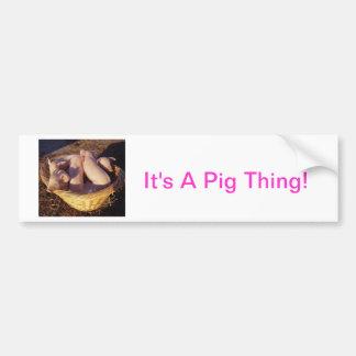 Cerdos del cochinillo pegatina para auto