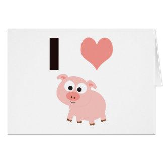 Cerdos del corazón I Tarjeta Pequeña