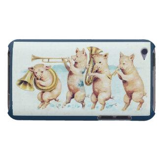 Cerdos del Cuerno-Playing - caja de iPod del arte Case-Mate iPod Touch Carcasa