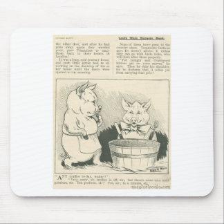 cerdos del periódico tapetes de ratón