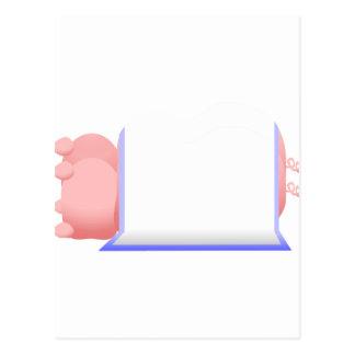 Cerdos en una manta azul tarjetas postales