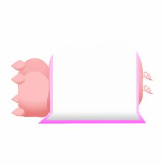 Cerdos en una manta rosada esculturas fotográficas