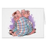 Cerdos en una tarjeta combinada