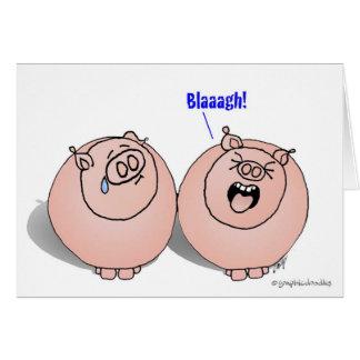 ¡Cerdos Feelling Blaaagh! Tarjeta De Felicitación