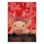Cerdos lindos de la tarjeta del día de San Valentí