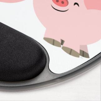 Cerdos lindos del dibujo animado en el gel Mousepa Alfombrilla De Raton Con Gel