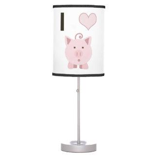 Cerdos lindos Desgin del corazón de I Lámpara De Escritorio