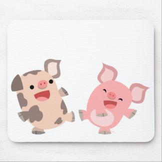 Cerdos lindos Mousepad del dibujo animado del bail Alfombrilla De Ratones