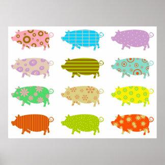 Cerdos modelados poster