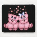 Cerdos Mousepad del amor Tapete De Ratones