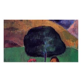 Cerdos negros de Paul Gauguin- y un Tahitian que s Plantillas De Tarjeta De Negocio