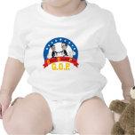 Cerdos opulentos GOP-Codiciosos, Romney anti, bebé Traje De Bebé