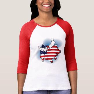 Cerdos patrióticos del vuelo - th del 4-4 de julio camisetas