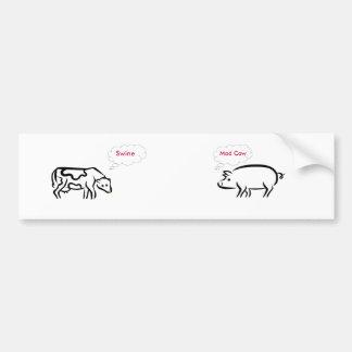 cerdos, pegatina para el parachoques de la vaca lo pegatina para auto