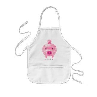 Cerdos rosados delantal infantil