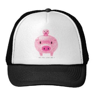 Cerdos rosados gorro