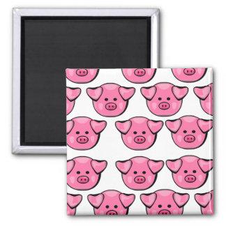 Cerdos rosados lindos iman de nevera