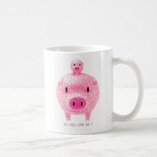 Cerdos rosados taza