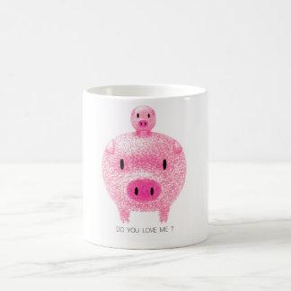 Cerdos rosados taza clásica