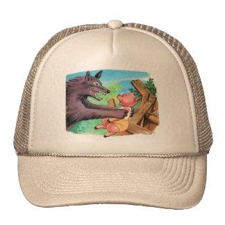 Cerdos y lobo del kitsch tres retros del vintage gorra