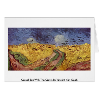 Cereal Box With The Crows By Vincent Van Gogh Greeting Card