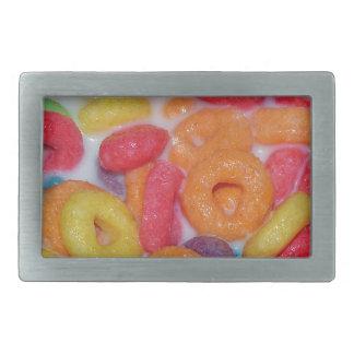Cereal con sabor a fruta hebillas cinturón rectangulares