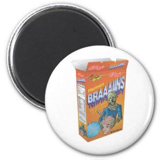 Cereal de desayuno del zombi imán redondo 5 cm