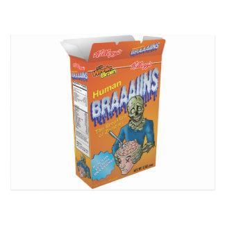 Cereal de desayuno del zombi tarjetas postales