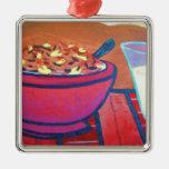 Cereal de goma del pollo ornamentos de reyes