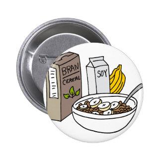 Cereal del salvado con los plátanos y la leche de pin redondo de 2 pulgadas