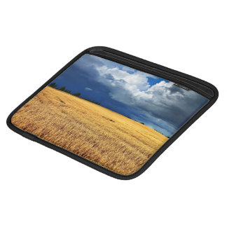 Cereal Field With Dark Stormy Clouds iPad Sleeve