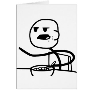 Cereal Guy Meme Card