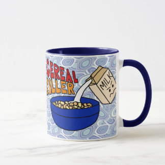 Cereal Killer Coffee Mug, Angry Milk Carton Mug